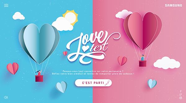 Découvrez le Love test de Samsung developpé par Access