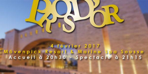 Tarifs et Packs pour assister aux PROS D'OR 2017 au  Mövenpick Marine Spa Sousse