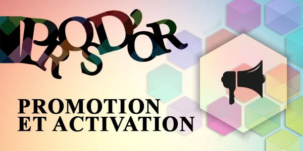 Pros d'or 2017 : Fiche d'inscription catégorie PROMO & ACTIVATION