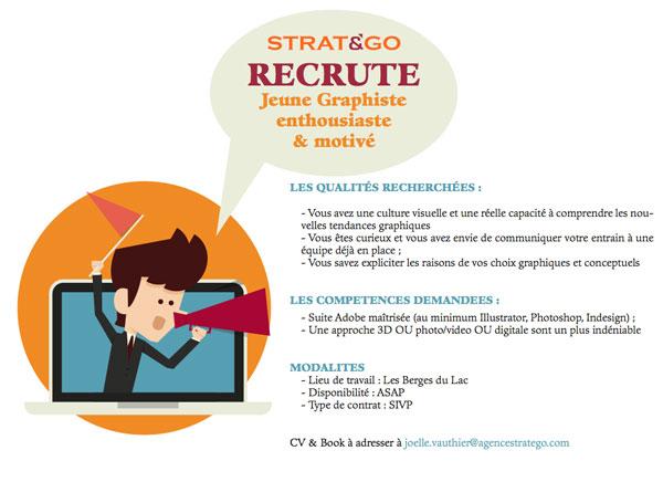 STRAT&GO Recrute Jeune Graphiste enthousiaste & motivé