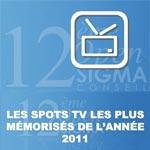 Les spots télés les plus mémorisés de l'année 2011